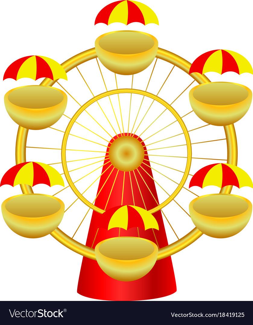 Cartoon ferris wheel.