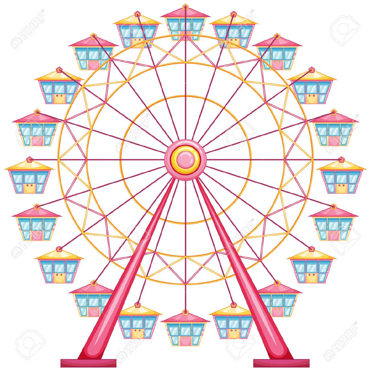 707 Ferris Wheel free clipart.