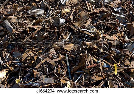 Stock Photo of Ferrous scrap k1654294.