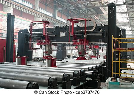 Stock Image of Cold rolling department in ferrous metallurgy.