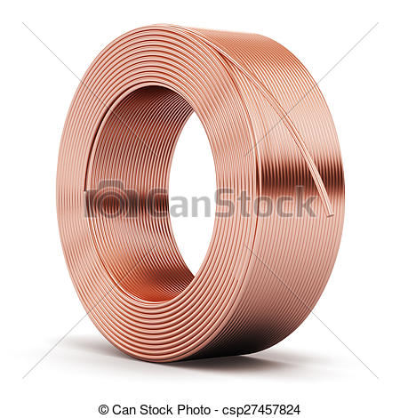 Clip Art of Hunk of copper cable.