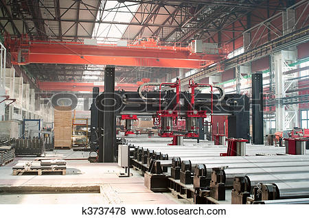 Pictures of Cold rolling department in ferrous metallurgy factory.