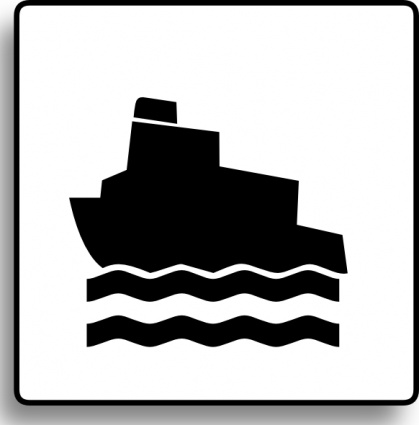 Ferry Boat Clip Art, Vector Ferry Boat.