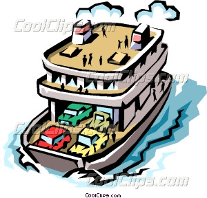 Ferryboat Vector Clip art.