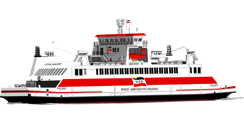 Download Free png ferry boat sea ship red.