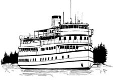 Ferry clipart black and white 6 » Clipart Station.
