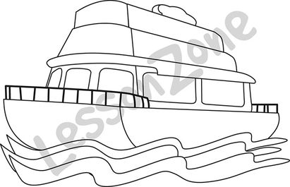 Ferry clipart black and white 9 » Clipart Station.