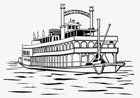 Free Steamboat Clip Art with No Background.