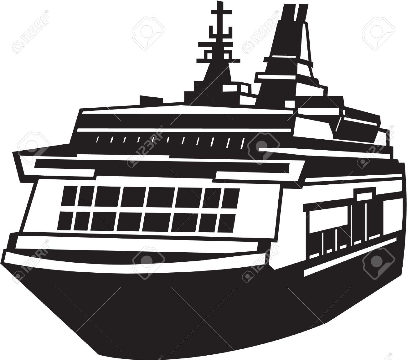 Ferry clipart black and white 5 » Clipart Station.