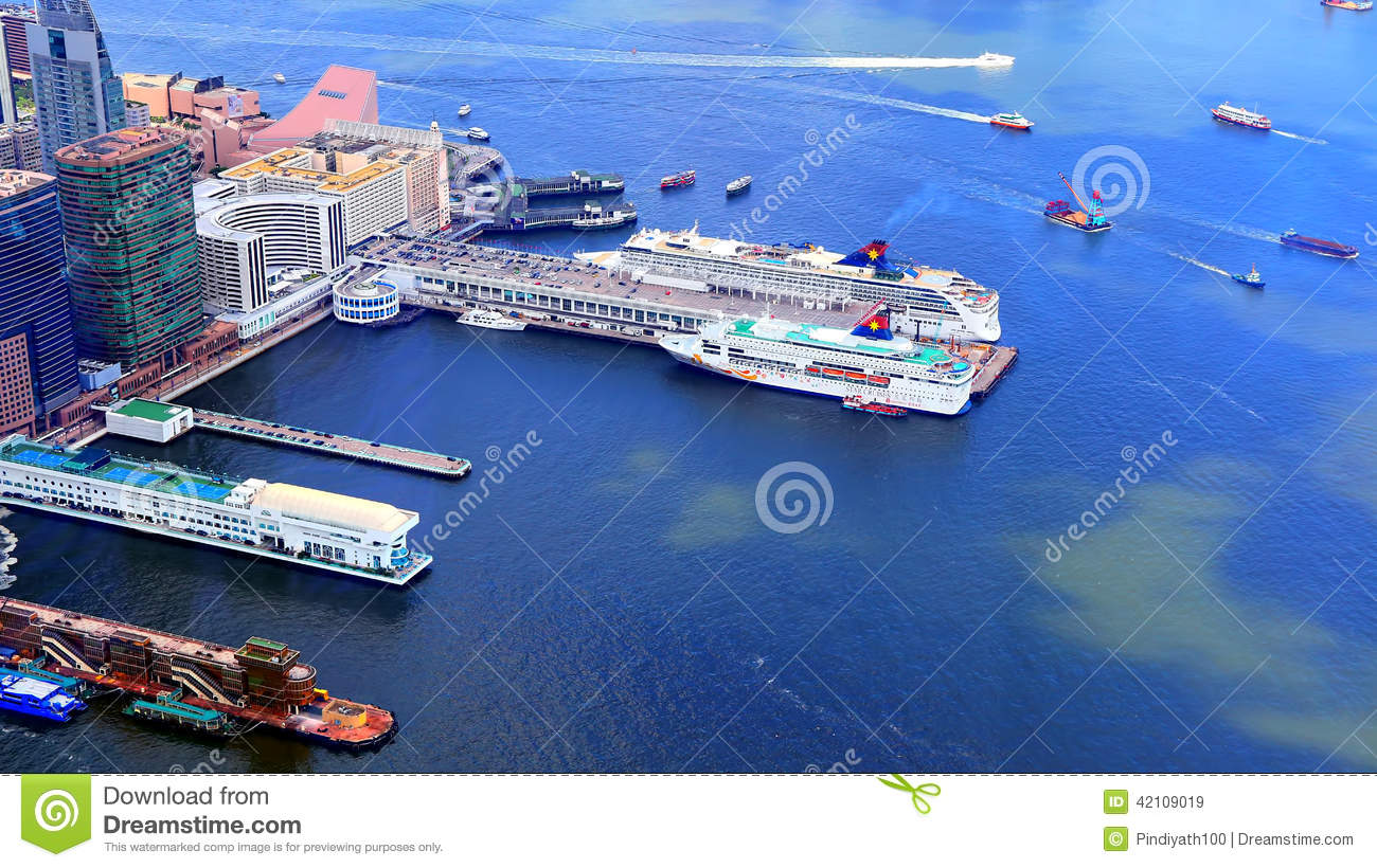 Ocean Terminal And Hong Kong China Ferry Terminal Editorial Stock.