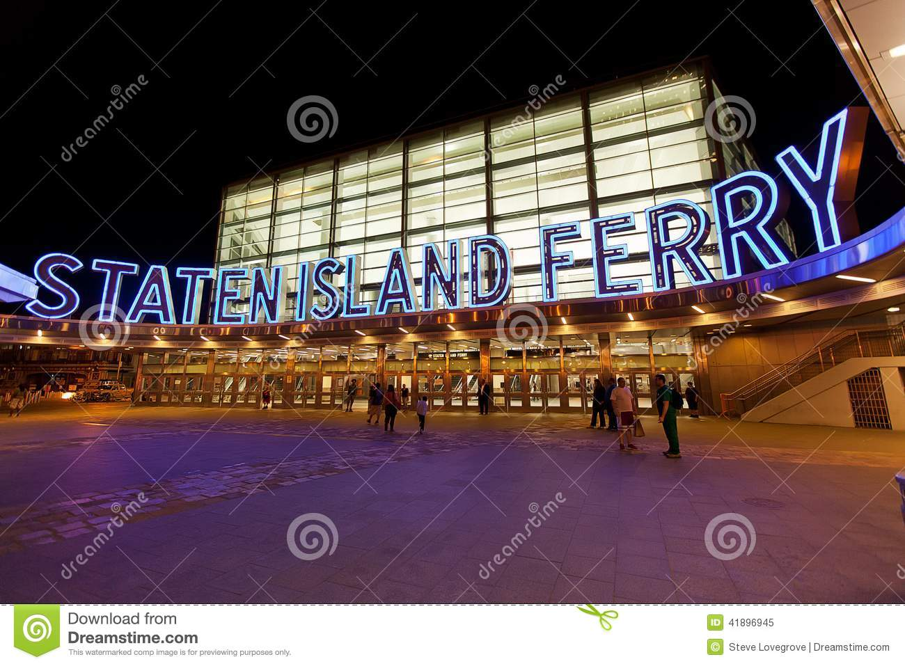 Staten Island Ferry Terminal Editorial Image.
