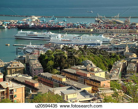 Stock Image of Genoa, Liguria, Italy, Genova, Europe, View of the.
