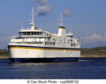 Stock Photo of Ferry Boat.