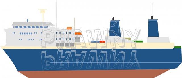 Passenger Ferry Boat Prawny Transport Clip Art.