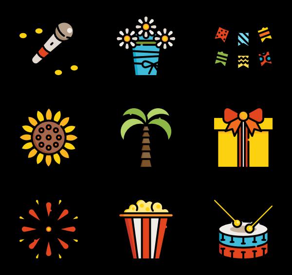 Festa junina 40 free icons (SVG, EPS, PSD, PNG files).