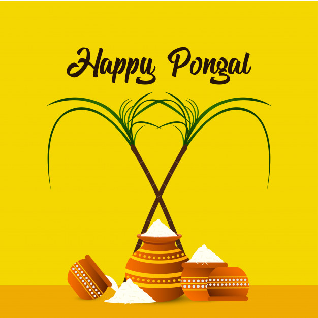 Happy pongal festival background.