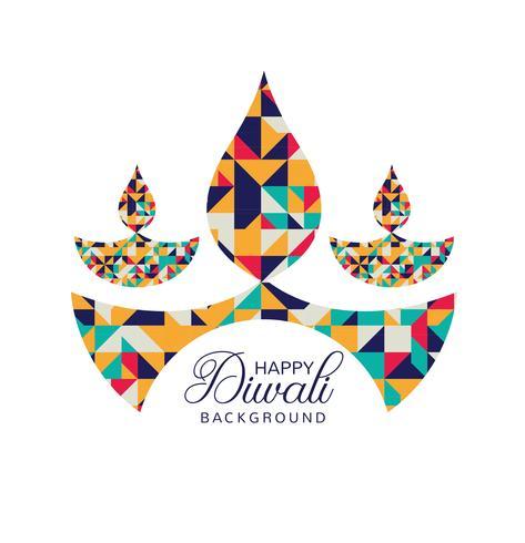 Modern Happy Diwali festival card background vector.