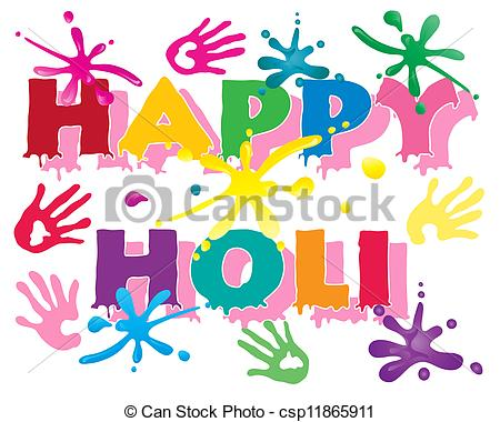Clipart on holi festival.