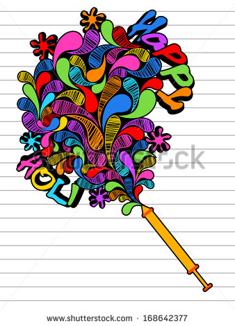 Drawing Indian Festival Happy Holi Celebration Stock Vector.