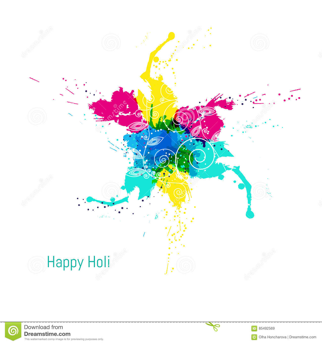 Indian Holi Festival Colours Stock Photos.