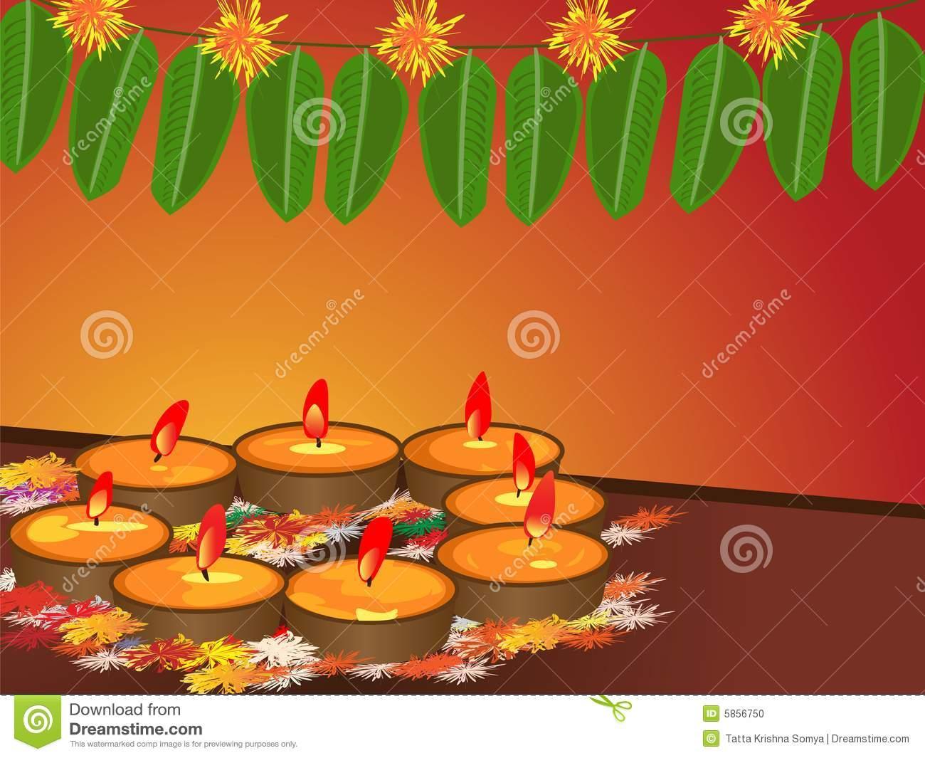 Diwali festival of lights clipart.