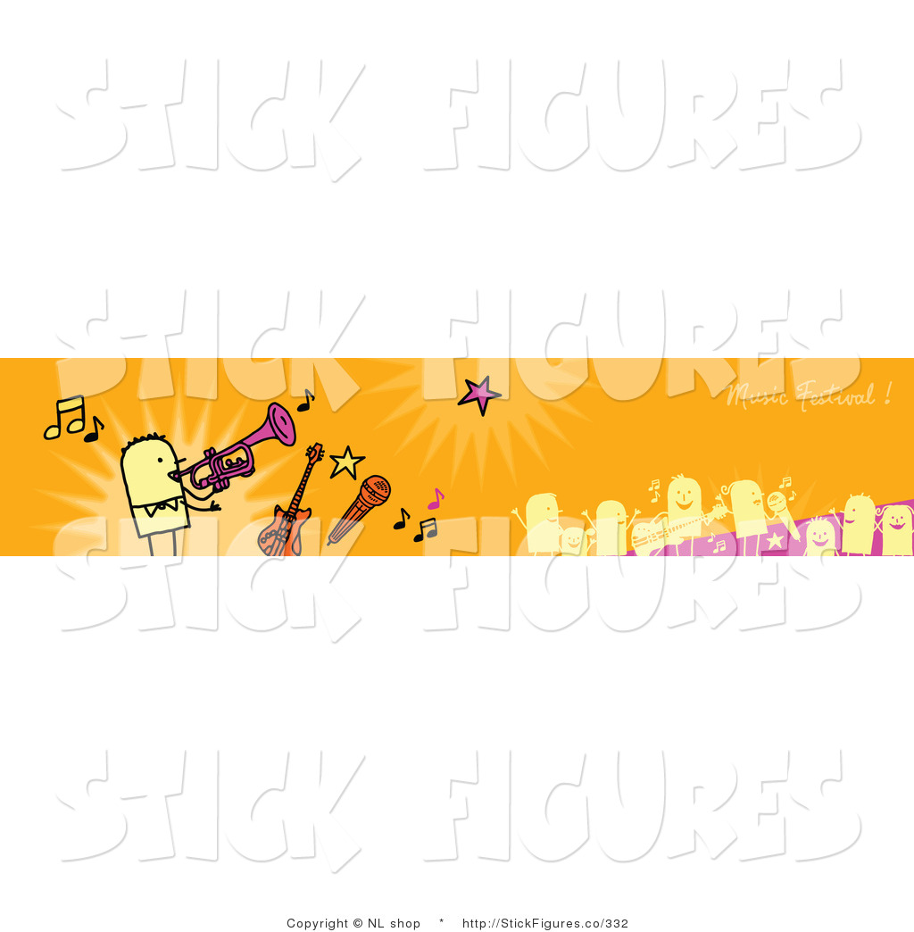 Royalty Free Site Banner Stock Stick Figure Designs.