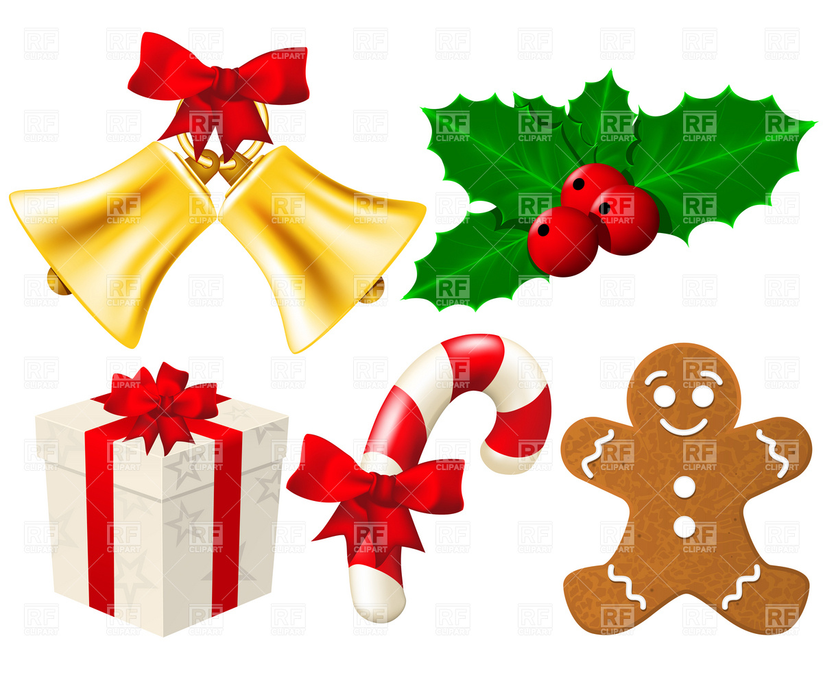 Holiday decorations clipart.