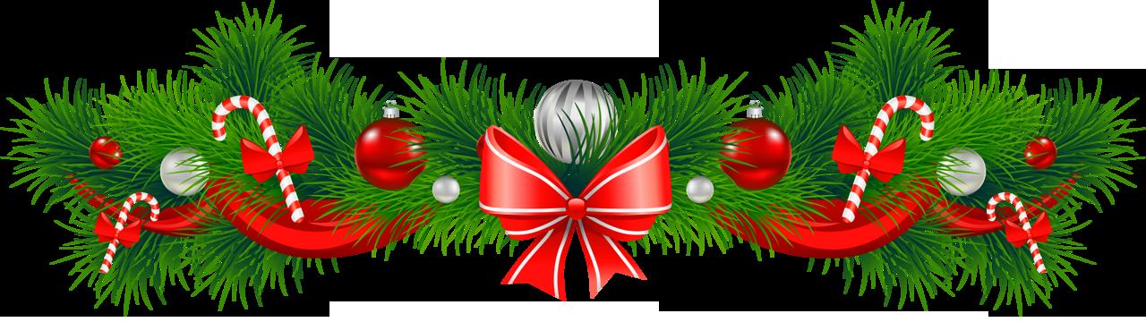 Garland clipart festive season, Garland festive season.