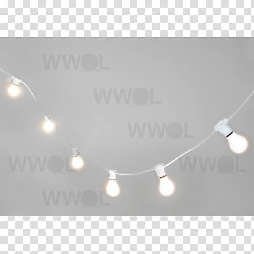 White bulb string light , Lighting Incandescent light bulb.