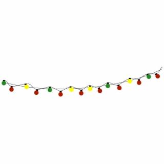 Christmas Bulb String Lights Png Image.