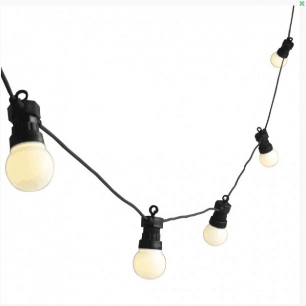 20 LED OPAL GLOBES FESTOON LIGHT.