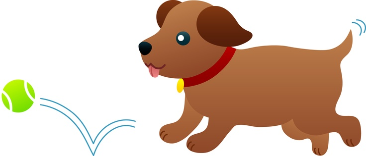 Dog Fetch Clipart.