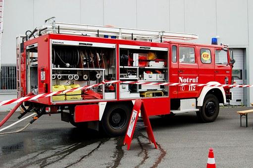 Fire, Truck.