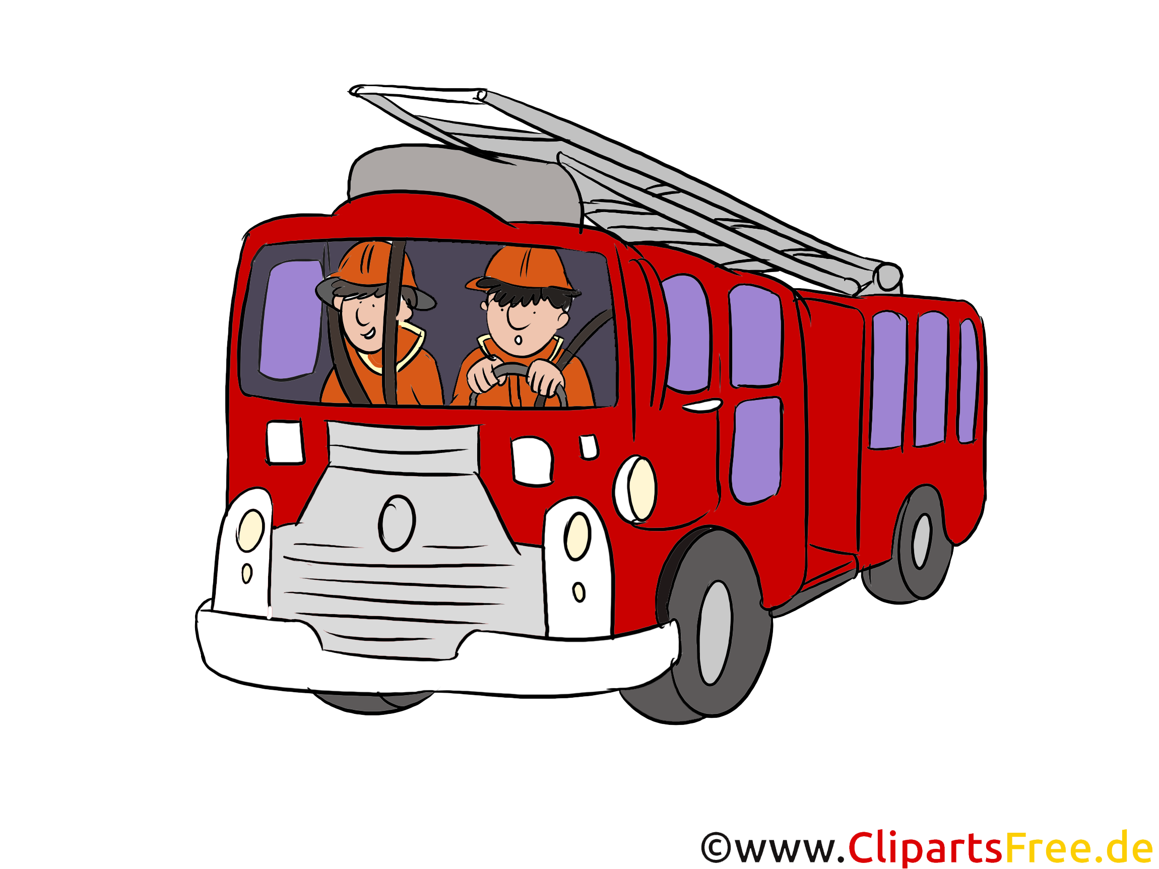 İtfaiye acil servis aracı illüstrasyon, küçük resim, resim.