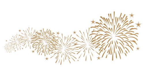 Silvester Feuerwerk Dekoration.