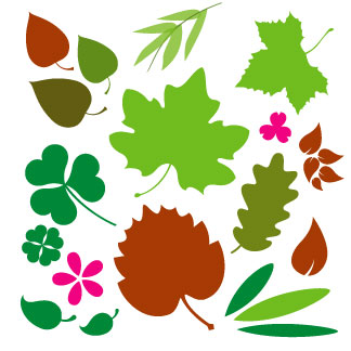 CLIPART LEAVES.