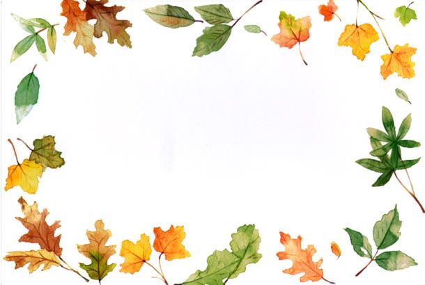 Fall Flower Border Clipart.