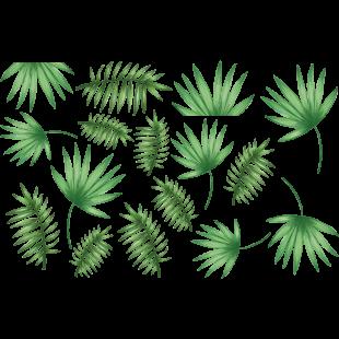 Sticker feuilles de palmier.