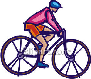 Person On Bike Clipart.