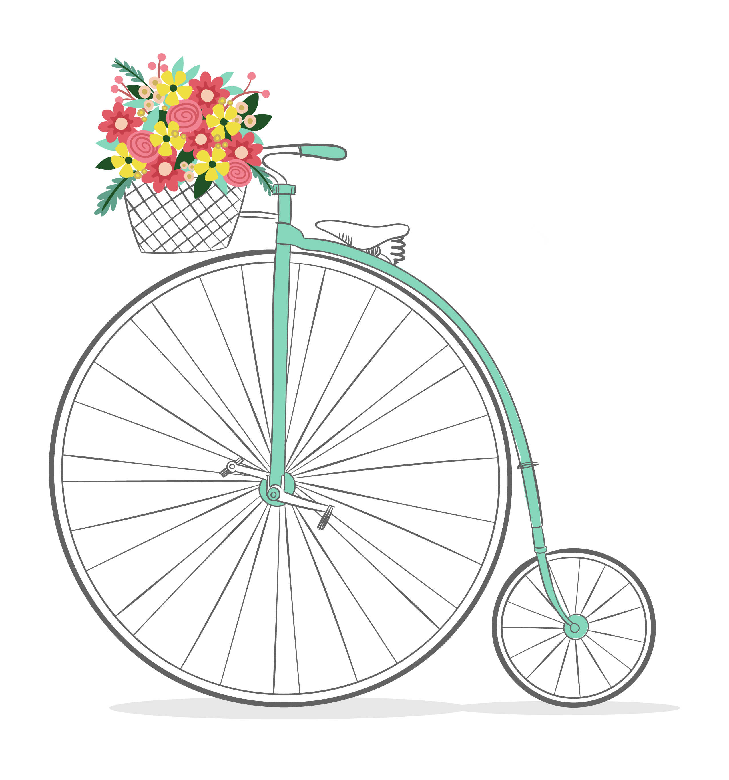 Free Romantic Bicycle Clip Art.