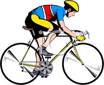 Man On Bicycle Clipart.