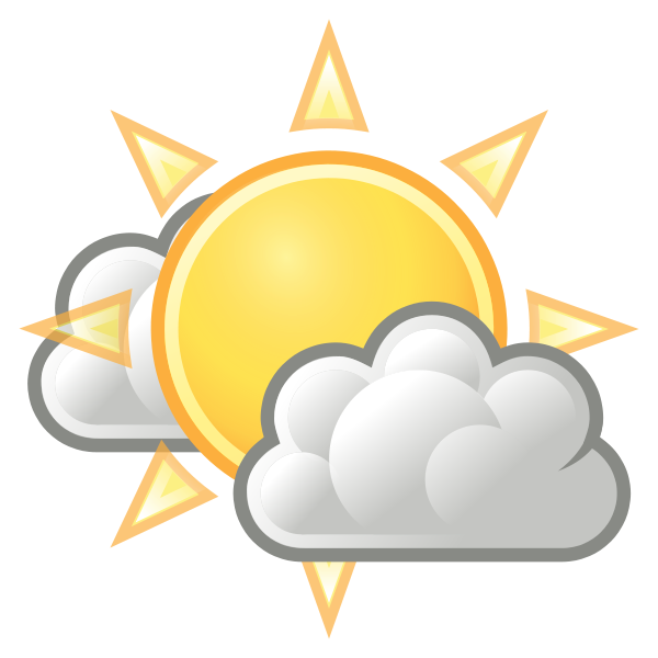 Weather few clouds Clipart, vector clip art online, royalty free.