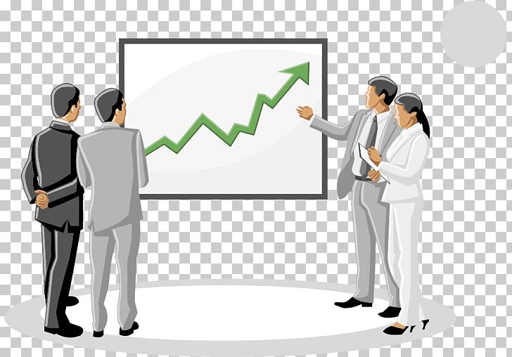 Businessperson Advertising Cartoon, business meeting a few.