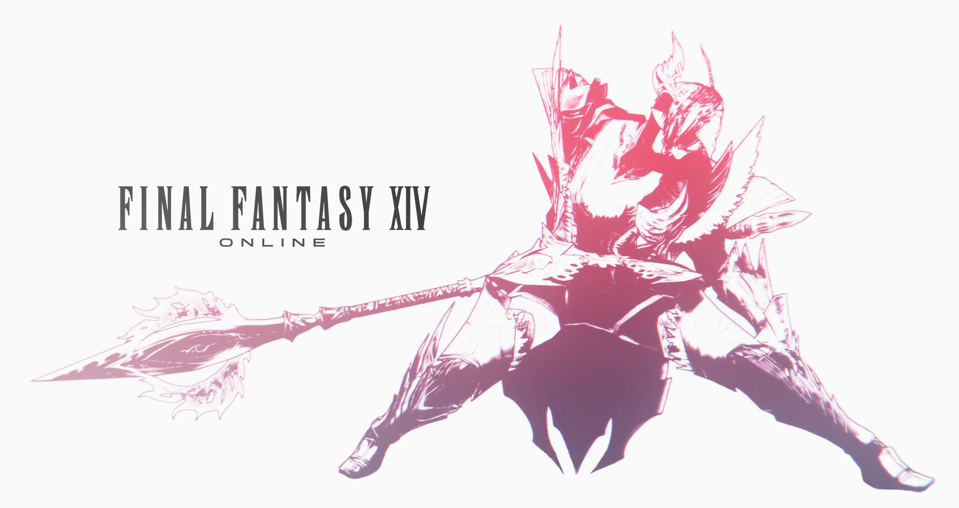 fanmade FFXIV logo with my char : ffxiv.