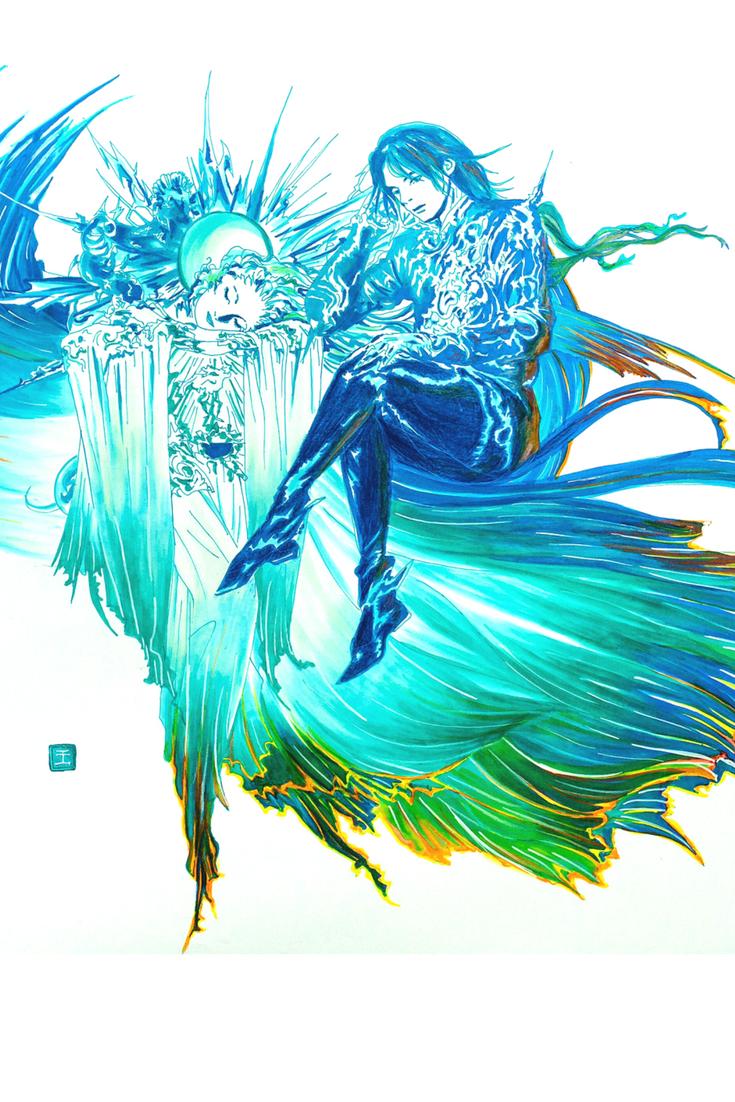 Final Fantasy xv logo fanart artwork illustration art print.