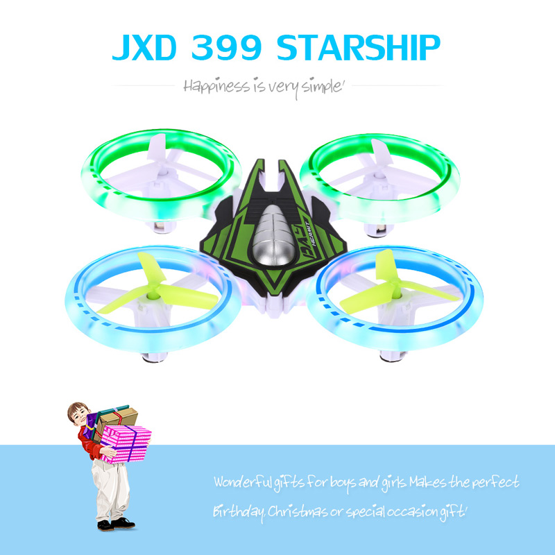 Best JXD 399 Starship LED Drone Colorful Light UFO Quadcopter 3D.