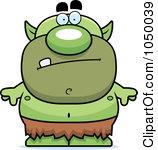 Cartoon of a Grinning Chubby Goblin.