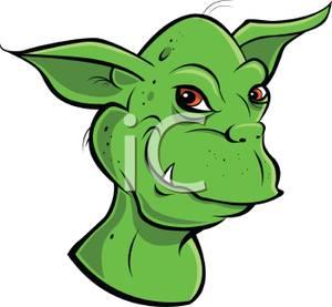 Green goblin clipart.