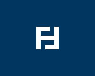 letter FH Designed by vectorizm.