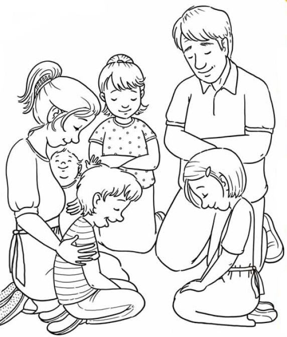 Family prayer clip art primary fhe and church.